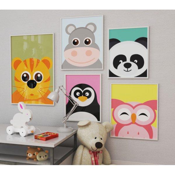 Kids poster - Funny & happy panda