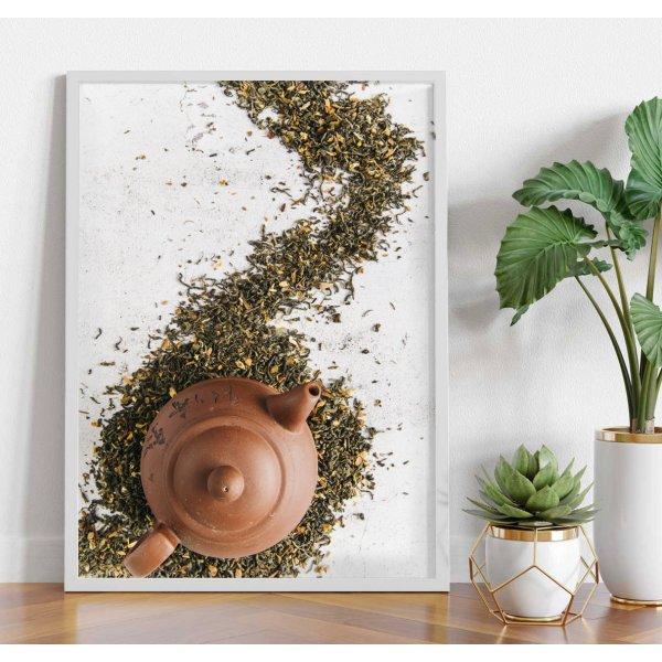Tea and teapot - Kitchen poster