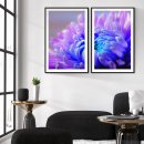 Colorful posters - Blue and pink flowers