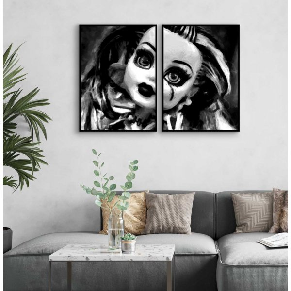 Sad Doll - Poster in Two Pieces