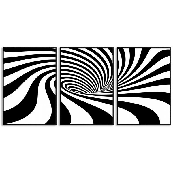 Abstract art - Three Piece Poster