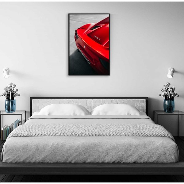 Sports car Ferrari - Red poster
