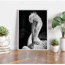 Crane bird - Abstract animal poster