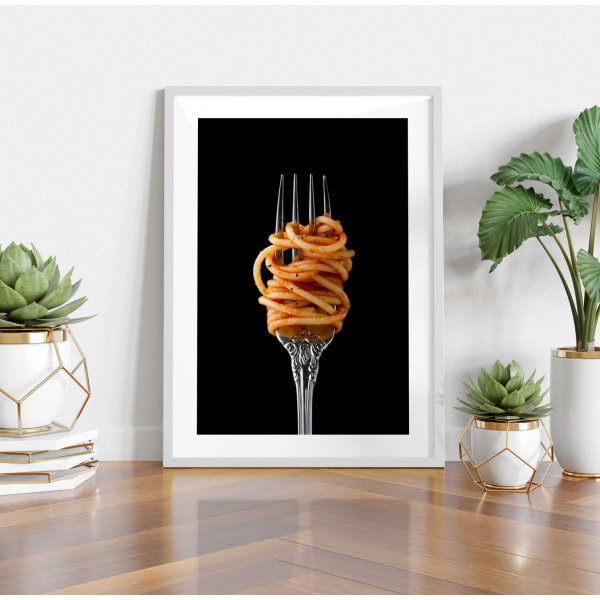 Simple silver wear kitchen poster