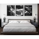 Abstract music poster - Three piece fashion poster