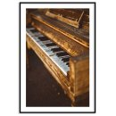 Classic & old piano - Music poster
