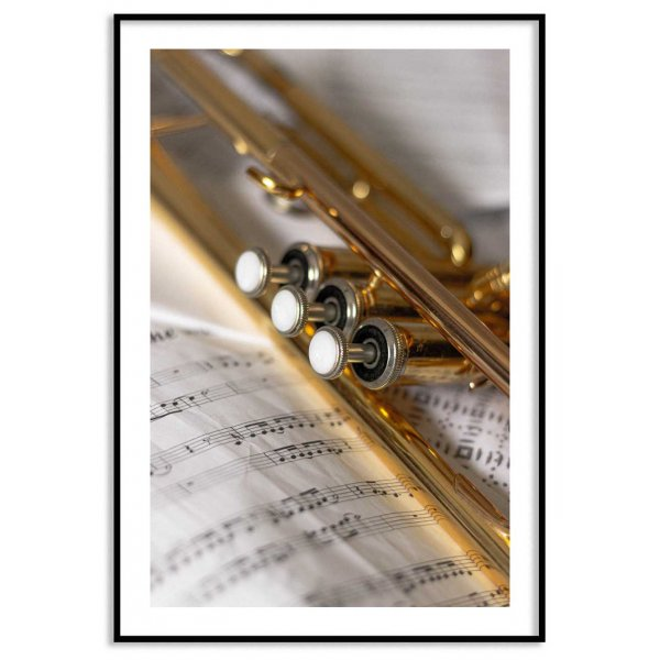 Trumpet & notes - Music poster