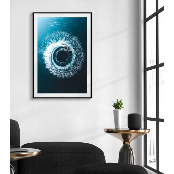 Boat and waves - Trendy poster