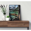 Beautiful nature from a window - Colorful poster