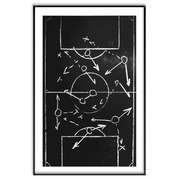 Soccer ball field drawing - Cool sports poster