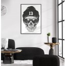 Skull with sunglasses - Poster