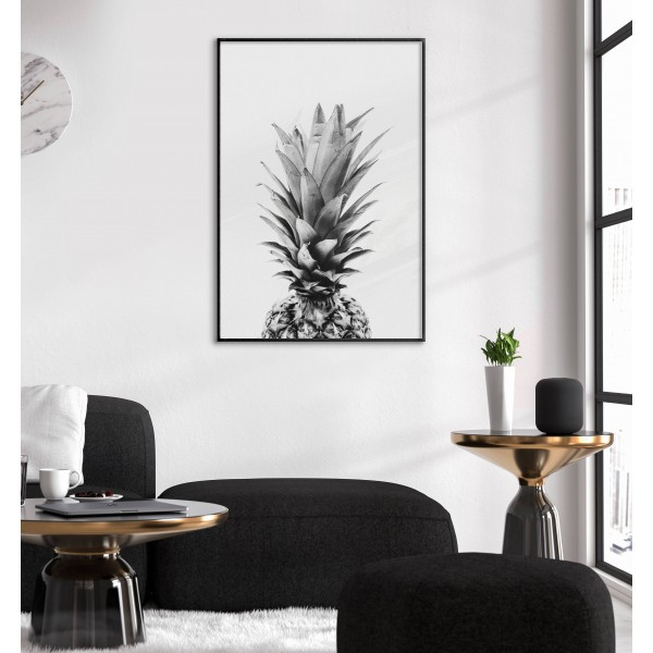 Simple Pineapple - Black and White Poster