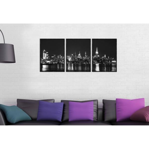 New York Panorama - Three Piece Poster