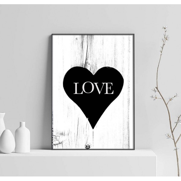 Love & Heart - Simple Poster