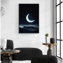 Moon & stars - Illustration poster