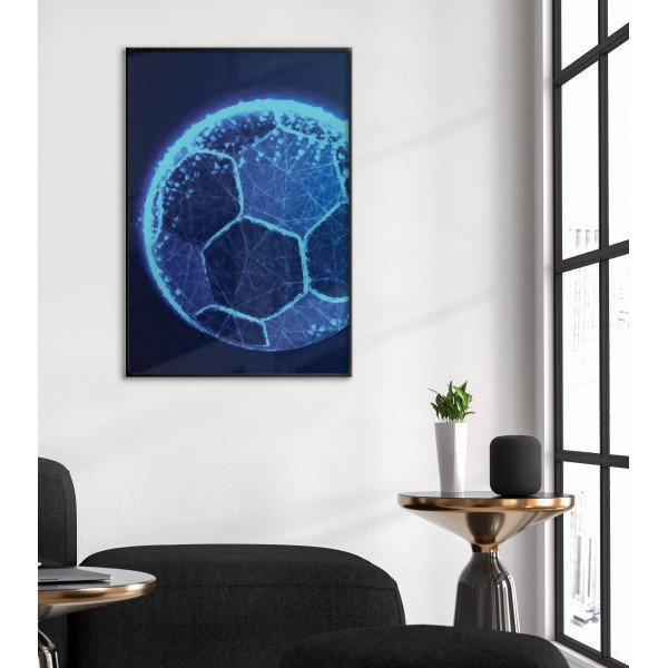 Neon soccer ball - Simple poster
