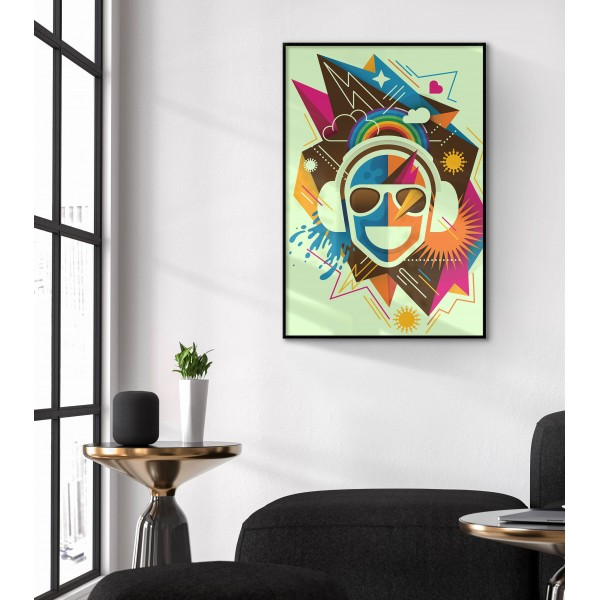 Simple music poster & Abstract art