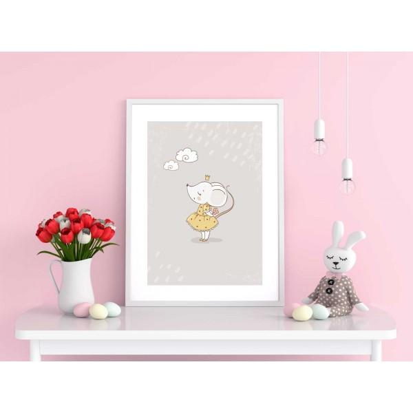 Mouse princess - Pink kids poster
