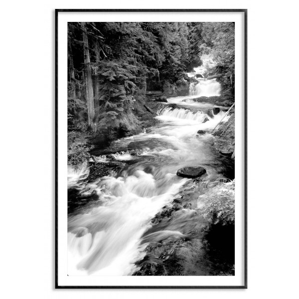 Waterfall in Harmony - Poster