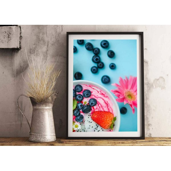 Colorful kitchen poster - Strawberry & Blueberries