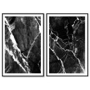 Abstract art - Black & white posters