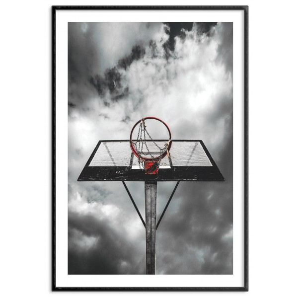 Basketball hoop - Sports poster