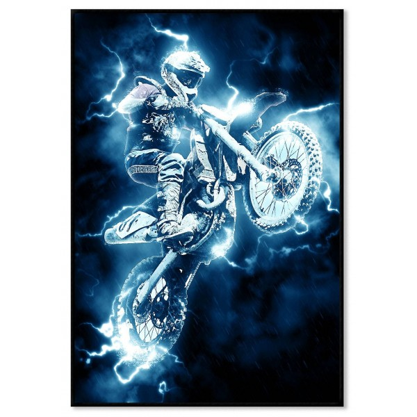 Motocross - Abstract extreme sports poster