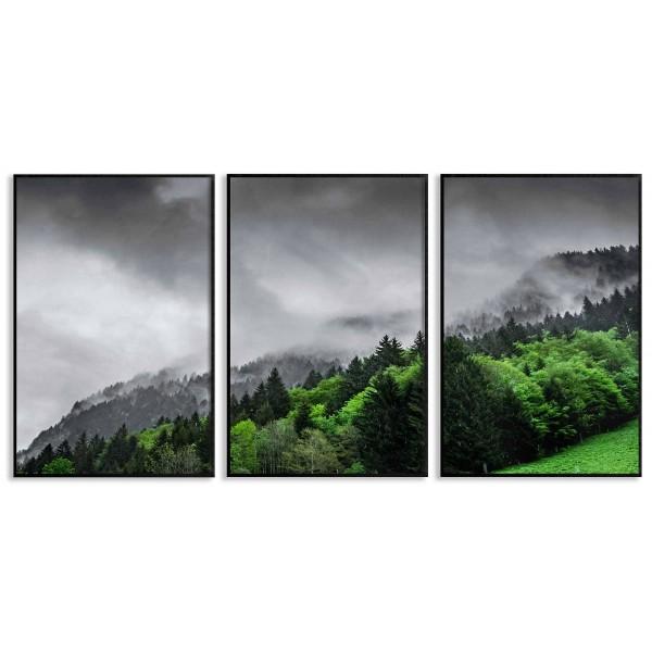 Green landscape - Three piece poster