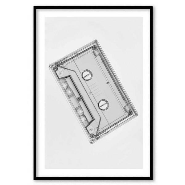 Cassette tape - Retro music poster