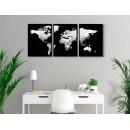 Dark map of the world - Three piece poster