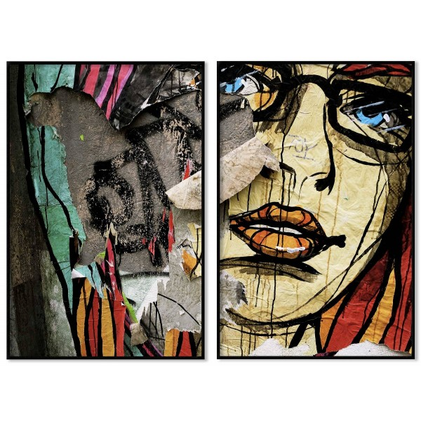 Abstract street art - Poster in two pieces