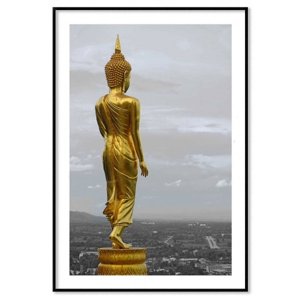 Buddha in gold - Simple Poster