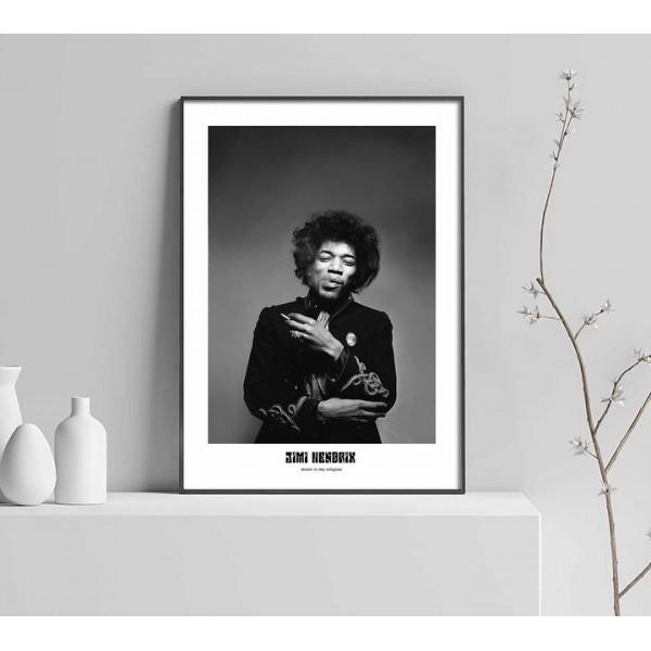 Jimi Hendrix - Music poster