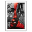 Abstract colorful painting of a woman - Poster