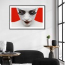 Fashion girl - Abstract people poster