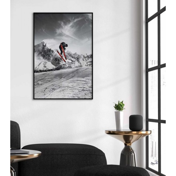 Skiing - Abstract extreme sports poster