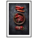Red chili - Kitchen poster - SwedeArts