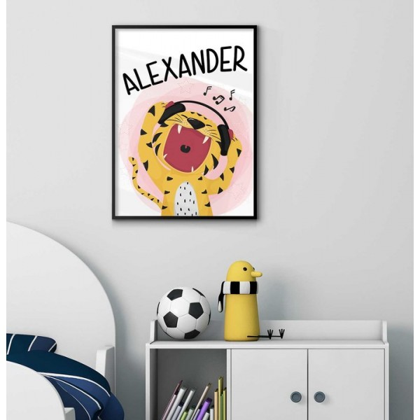 Tiger & music - Kids personal poster