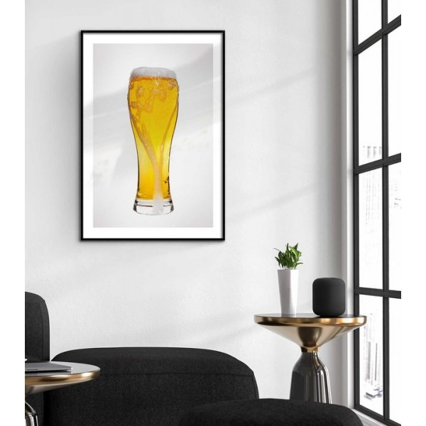 Beer glass - Simple kitchen poster