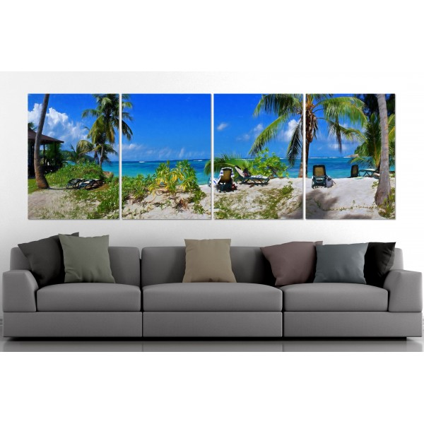 Exotic Beach - Poster in Four Pieces