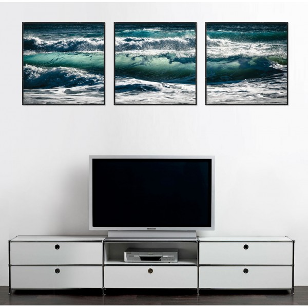 Huge Waves - Big Poster in Three Pieces