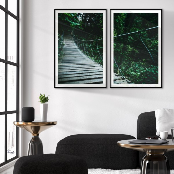 Jungle bridge - Two Piece Poster