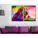 Lion - Colorful Two Piece Poster