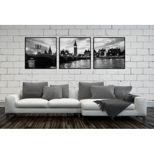 Panorama London Skyline - Big Poster in Three Pieces