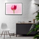 Pink flower - Simple retro poster