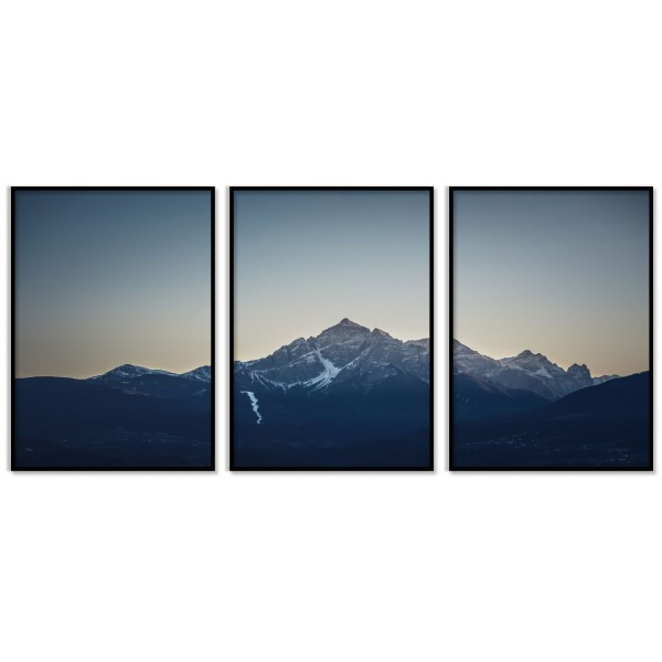 Three Piece Panorama Poster - Nature and Mountains