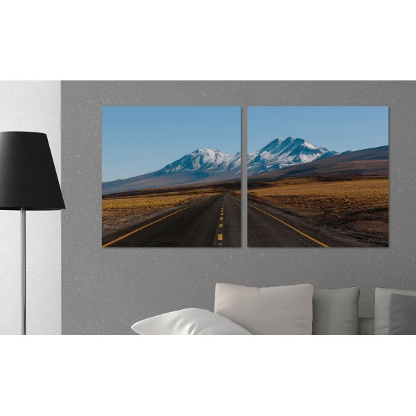 US Highway - Poster in Two Pieces